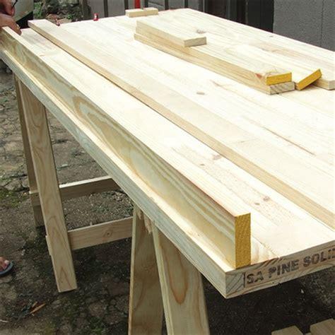 diy trestle desk home dzine home diy how to make a trestle desk