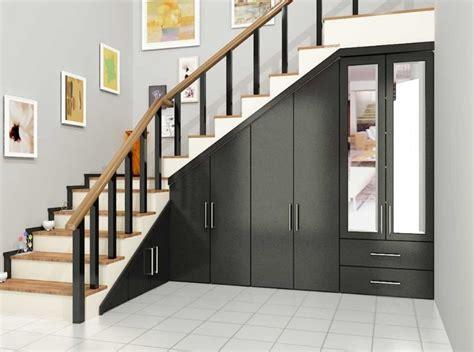 desain tangga  rumah minimalis  gaya modern renovasi rumahnet