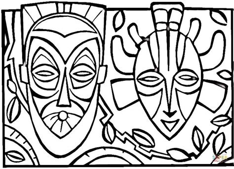 printable african art e space art african mask history activities for kids