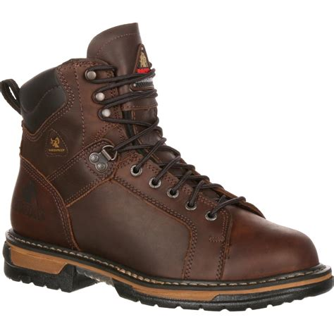 rocky shoes waterproof lace to toe work boots rocky ironclad 5703