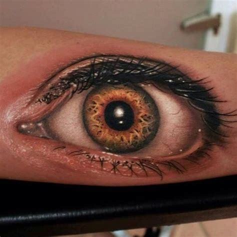 tattoos of eyes creepy hyper realistic tattoos damn cool pictures