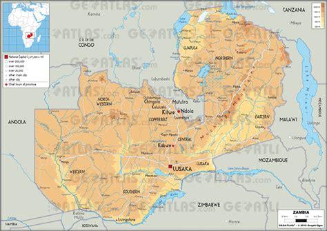 lusaka zambia map geoatlas countries zambia map city illustrator fully