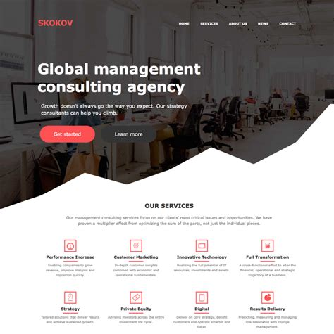 css layout inspiration free one page business html and css template flat design