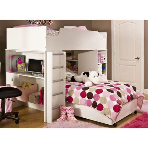 logik l shaped bunk bed with desk
