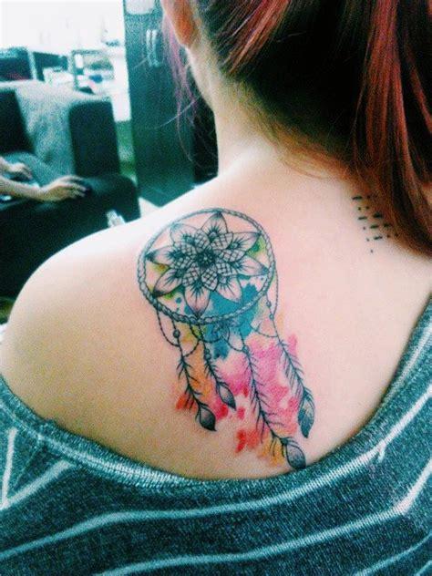 unique dreamcatcher tattoos mandala dreamcatcher on shoulder