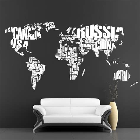 cool wall sticker cool wall stickers big map by artollo