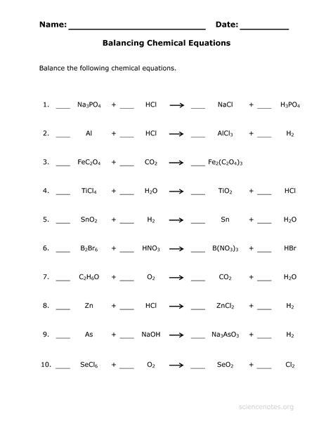 section 2 practicing equation balancing balancing equations homework help