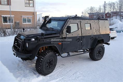 light armored vehicle for look what the snowcat dragged in a mercedes benz g class
