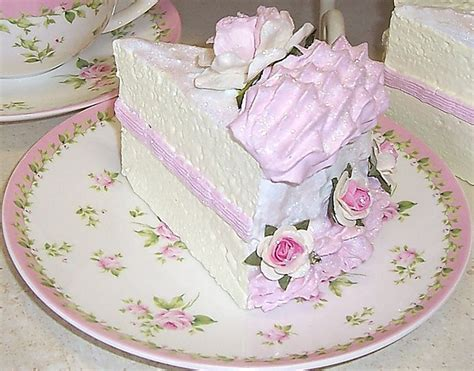 Cing Girly Style by Shabby Chic Faux White Cake Slice Cake Cake