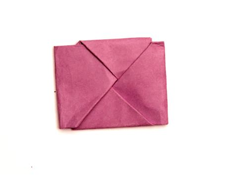 Folded Square Origami Paper - how to fold paper into a secret note square 10 steps