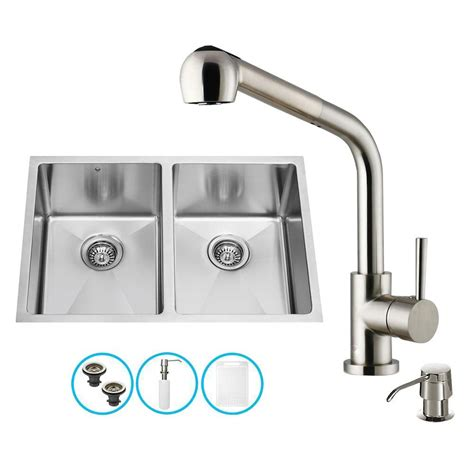 vigo all in one undermount stainless steel 29 in