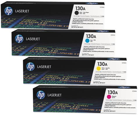 Toner Hp Laserjet 130a Original Hp Magenta Produksi 2016 2017 hp 130a black original toner cartridge cf350a 1set heng computer center