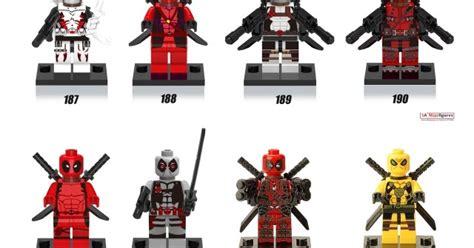 Marvel Deadpool Brick Minifigs Non Lego Misp Minifigure Downtheblocks More Deadpool Minifigs From Xinh