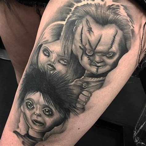 bride of chucky tattoo 1000 images about chucky and tattoos on