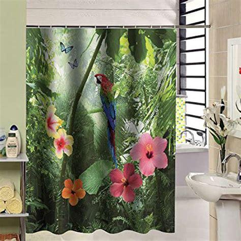 210cm shower curtain 180 x 210cm new arrival waterproof fabric parrot design 3d