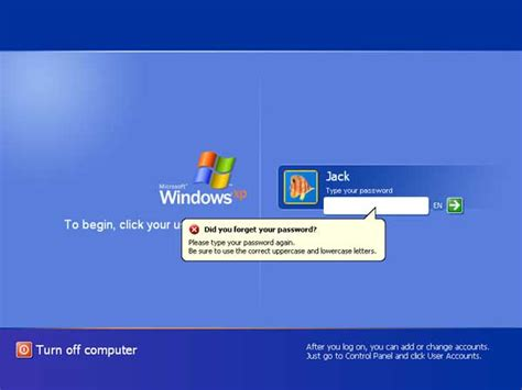 reset password windows xp via usb how to reset windows xp administrator password after forgotten