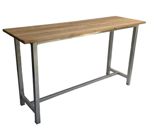 bar top table galvanised dry bar with wooden top from dann event hire