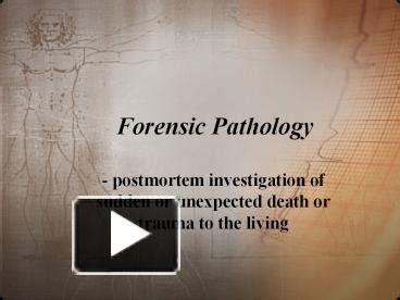 Ppt Forensic Pathology Powerpoint Presentation Free To Pathology Ppt Templates Free