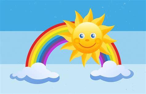 matahari pelangi anak latar gambar gratis  pixabay