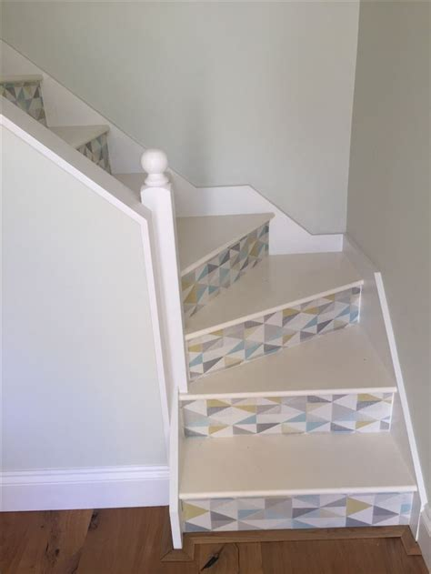 Decoupage Stairs - 1000 ideas about wallpaper stairs on stair