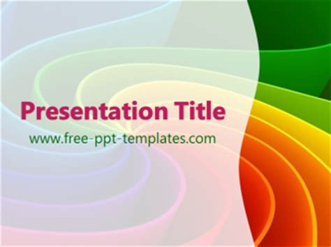 rainbow colors ppt template free powerpoint templates