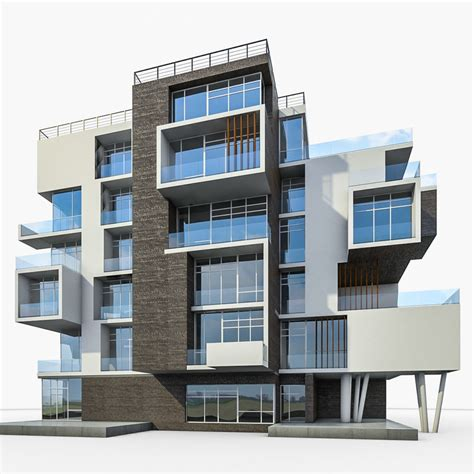 3d house building 3d model apartment house building