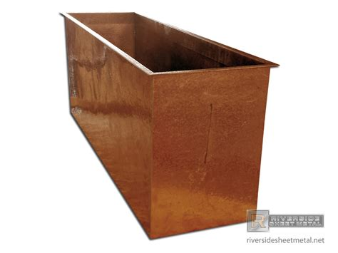 Copper Planter Boxes by Hammered Copper Planter Flower Box Riverside