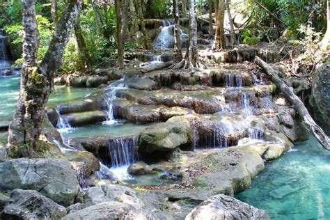 waterfalls  thailand south east asia