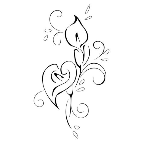 calla lilies tattoo designs best 25 calla tattoos ideas only on