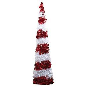 tinsel christmas trees 5 red opal candy cane christmas