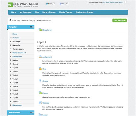 theme creator moodle how to set a different theme for a moodle course