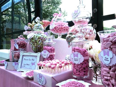 Mickey And Minnie Halloween Decorations Candy Buffet Pink Minnie Mouse Candy Buffets L Sweetie