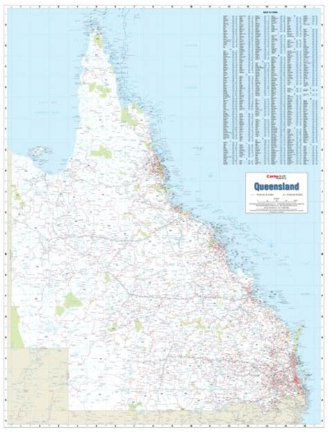 queensland brisbane postcode map cartodraft australia