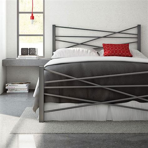 modern metal beds canada amisco crosston modern metal bed magnetite beds