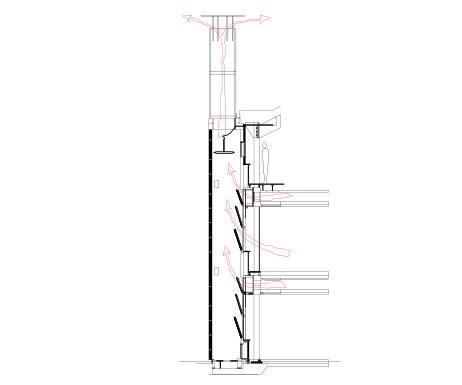 sezione camino bre office ventilazione