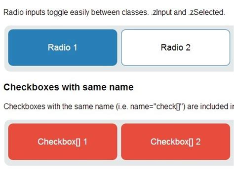 jquery plugin to turn radio buttons checkboxes into