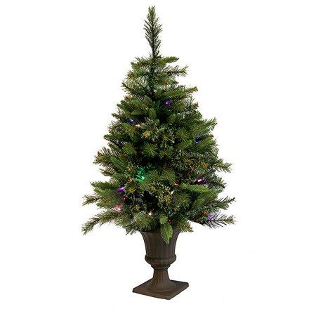 northlight 3 5 ft pre lit battery operated potted tree multi led lights