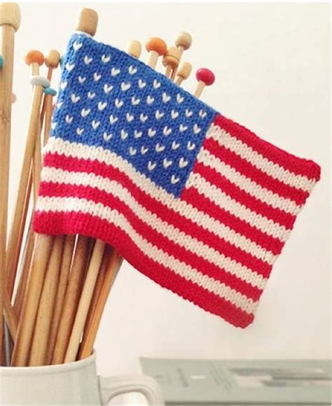 american knitting patterns free mini american flag knitting pattern knitting