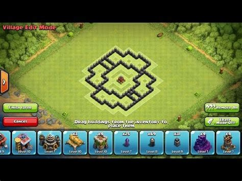 coc th6 layout with air sweeper clash of clans best th6 farming base air sweeper youtube