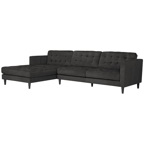 dark grey microfiber sectional shae dark gray microfiber left chaise sectional living room