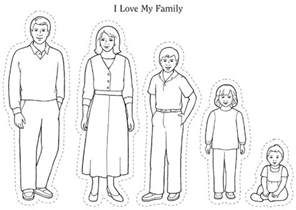 Love My Whole Family  LDS Sunbeams Pinterest I And sketch template