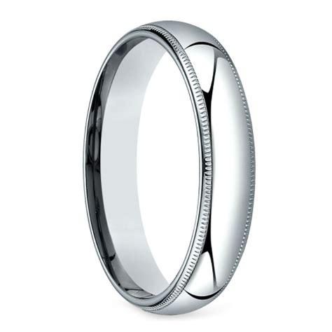 mid weight milgrain s wedding ring in platinum 5mm