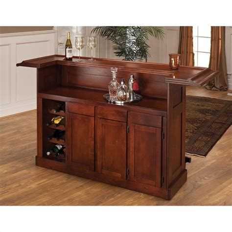 hillsdale classic cherry large home bar 62578ache