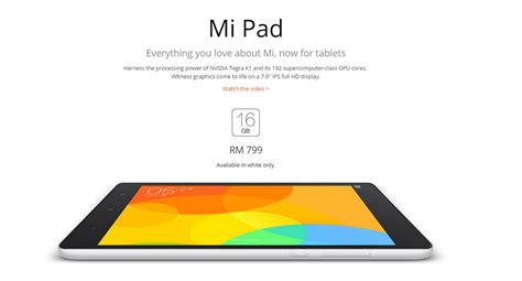 Tablet Xiaomi Di Malaysia xiaomi mi pad berharga rm799 di malaysia dijual bermula