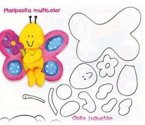 molde gratis de mariposa para imprimir moldes mariposa de goma eva manualidades en goma eva y