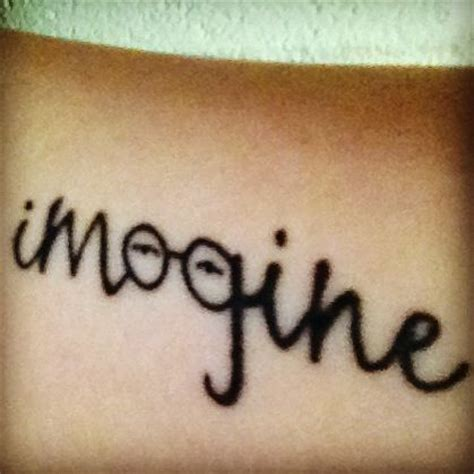 john lennon tattoo designs my lennon quot imagine quot i ve got you my
