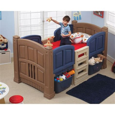 step 2 twin bed step2 boys loft storage twin bed walmart com