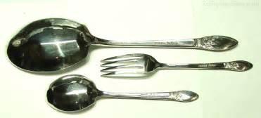 Fruit Spoon Fork antiques atlas silver fruit salad spoon and fork set