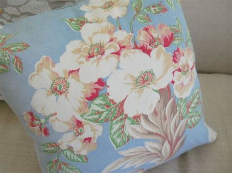 vintage fabric farmhouse cottage style pillow