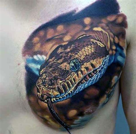 50 3d snake tattoo designs for men reptile ink ideas
